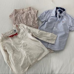 Bundle of 3T dress shirts Crewcuts Janie Jack